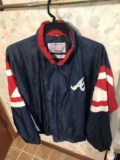 34299c2ccc6ad Rare Vintage 90 s STARTER MLB Atlanta Braves Jacket Windbreaker XL  Throwback