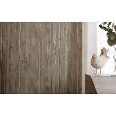 Papier peint vinyle sur intiss planche bois marron larg m leroy me - Leroy merlin planche pin ...