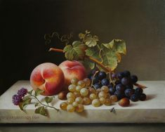 still+life+paintings | Still Life with Peaches and Grapes
