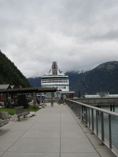 Rhapsody of the Seas, in Skagway Alaska