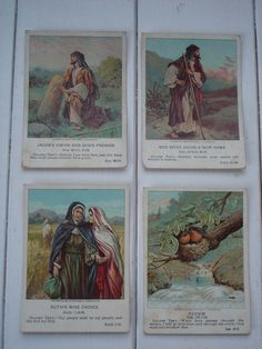 I remember getting cards like this at Sunday school. Old Testament, Sunday School, My Etsy Shop, Antiques, Children, Cards, Handmade, Stuff To Buy, Painting