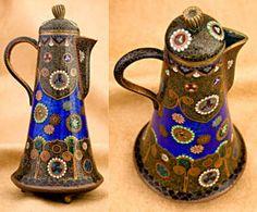 Antique Japanese cloisonne teapot. Wow!
