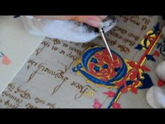Medieval Manuscript Reproduction: Painting an illuminated letter. Mystery of History Volume Lesson 25 Beautiful Lettering, Beautiful Calligraphy, Medieval Manuscript, Medieval Art, Mystery Of History, Art History, History Class, Illuminated Letters, Illuminated Manuscript