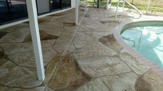Pool Deck resurfacing in Cape Coral FL.  See more at msdcurbing.com