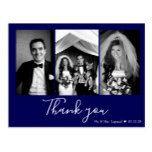 Chic Script Wedding Thank You | Navy Blue Postcard #weddinginspiration #wedding #weddinginvitions #weddingideas #bride