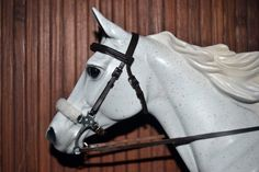 LSQ Hackamore Bridle Dark Brown Breyer Stone Model Horse Traditional 1 9 Black | eBay