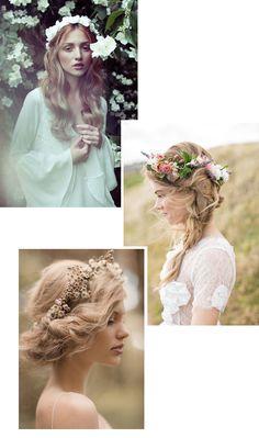 Colorelle modeblogg - Krans till brudhåret