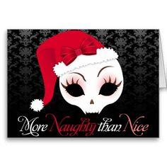 Funny alternative black gothic christmas card, and fun skull design for goths. Dark Christmas, Halloween Christmas, Little Christmas, Christmas Art, Christmas Themes, Christmas Wreaths, Deadpool Christmas, Funny Christmas Images, Jolly Roger