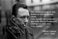 Carnet de bord... by Phil B. : News - Etre différent, être courageux [Albert Camus]