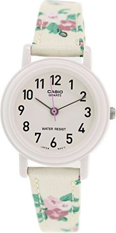Casio Womens LeatherFabric Black Floral Analog Watch LQ139LB7B2 *** Check this awesome product by going to the link at the image.