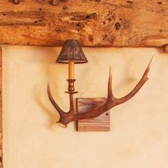 No Footsie Antler Wall Sconce