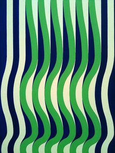 Blue Green and White Wave British Michael Kidner was a pioneer of Op art in the Graphic Patterns, Textile Patterns, Color Patterns, Print Patterns, Doodle Patterns, Textiles, Pattern Texture, Pattern Art, Pattern Design