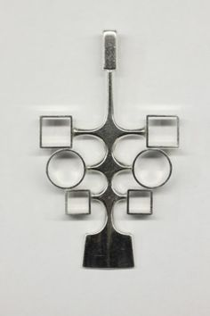 DAVID ANDERSEN NORWAY Sterling Silver Pendant Circa 1960
