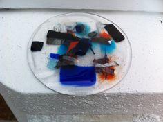 Circular layers test, glass frit copper tape copper foil aluminum strips