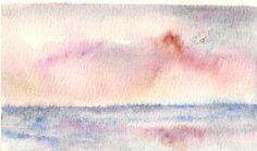 """""""tramonto sul mare""""- acquerello by Maria Cristina De Amicis"""