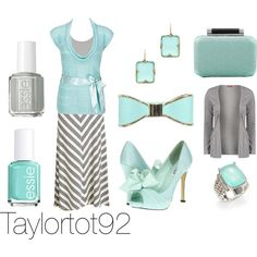 Tiffany Blue and Gray Outfit by taylortot92 on Polyvore featuring Daytrip, Influence, Old Navy, Tees by Tina, Diane Von Furstenberg, David Yurman, Wet Seal, Melinda Maria, Essie and WWUL