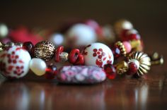 Mixed Glass, Metal and Ceramic Bead Twist Bracelet by LaceCharming at Etsy