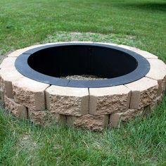 Fire Pit Tools, Diy Fire Pit, Fire Pit Backyard, Nice Backyard, Best Fire Pit, Fire Pit Gravel, Landscaping With Rocks, Backyard Landscaping, Landscaping Ideas