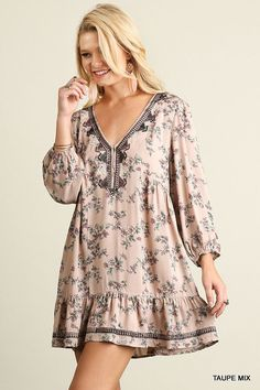 Designer Clothes, Shoes & Bags for Women Simple Dresses, Cute Dresses, Casual Dresses, Floral Dresses, Cocktail Dresses With Sleeves, Black Cocktail Dress, Bohemian Dresses Short, Short Dresses, Boho Fashion