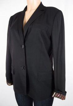 MARC BY MARC JACOBS Jacket Size 8 M Black Gold Wool Career Blazer #MarcJacobs #Blazer