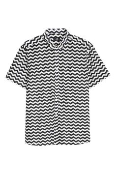 Camisa de algodón - Blanco Estampado - HOMBRE  bc6c518306a7b