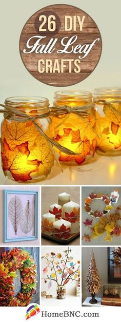 26 Colorful DIY Fall Leaf Crafts that you will find in this .- 26 Colorful DIY Autumn Leaf Crafts That You Must Try This Season # Trying - Autumn Leaves Craft, Autumn Crafts, Holiday Crafts, Diy And Crafts Sewing, Crafts For Kids, Diy Crafts, Decoupage Table, Party Girlande, Thanksgiving Diy