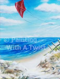 Day at the Beach 2 - Harker Heights Painting Class - Painting with a Twist - Painting with a Twist