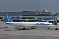Somali Airlines Boeing at Frankfurt, 1982 Boeing 707, Boeing Aircraft, Somali, Air Travel, Airplanes, Aviation, Africa, True Legend, History