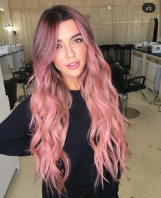 Inspiring Pastel Hair Color Ideas – My hair and beauty Pastel Pink Hair, Hair Color Pink, Hair Dye Colors, Cool Hair Color, Long Pink Hair, Ponytail Hairstyles, Pretty Hairstyles, Cabelo Rose Gold, Dye My Hair