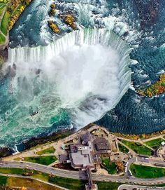Breathtaking Aerial View of Niagara Falls