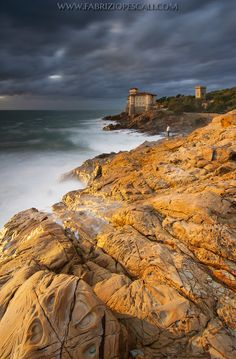 ~~Golden Boccale ~ just before sunset, Castle Boccale, Livorno, Italy by Fabrizio Pescali~~