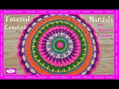 Como tejer un MANDALA GRANDE a crochet   AHUYAMA CROCHET - YouTube
