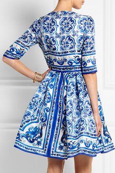 Dolce & Gabbana | Printed silk mini dress | NET-A-PORTER.COM