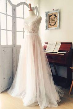 Long Wedding Dresses#LongWeddingDresses Appliques Wedding Dresses#AppliquesWeddingDresses V-Neck Wedding Dresses#V-NeckWeddingDresses Custom Wedding Dresses#CustomWeddingDresses