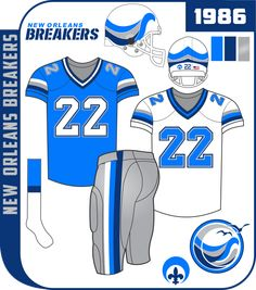 Football Uniforms, Sports Logos, Metallic Colors, Blue And Silver, New Orleans, Nfl, Community, Soccer Uniforms, Nfl Football