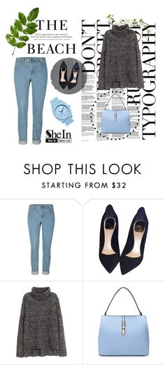 """Denim Pant Shein"" by dusavarljiva ❤ liked on Polyvore featuring H&M, Christian Dior and Nixon"