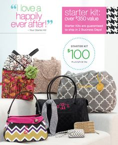 Starter Kit Rebate! Get the new Fall/Winter kit! www.thepersonalizedbag.com