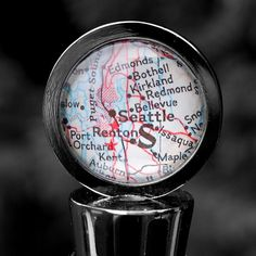 Seattle Washington  Wine Bottle Stopper  by DaisyMaeDesignsShop, $28.00