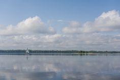 Calm Morning on Dargin Lake, Mazury, Poland