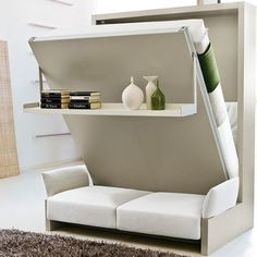 Space Saving Furniture Murphy Bed Ideas For Small Space Apartments Homes Murphy Bed Ikea, Murphy Bed Plans, Living Room Designs, Living Room Decor, Living Area, Fold Out Beds, Space Saving Furniture, Compact Furniture, Ikea Furniture