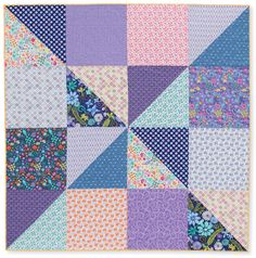 Rachel Griffin:  Farsighted Quilt,  This  big block pattern would work with modern prints or with small florals/calicos that some of us have in our stash.