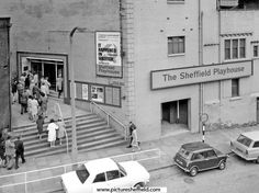 Sheffield Playhouse Theatre, Townhead Street / Little Hill Playhouse Theatre, Sheffield England, Cinema Theatre, Northern England, South Yorkshire, Theatres, Classic Mini, Pinterest Marketing, Play Houses