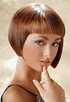 She'd always had long hair and this afternoon, don't know why, she cut it into this bob. Graduated Bob Haircuts, Short Bob Haircuts, Pixie Hairstyles, Short Hairstyles For Women, Spring Hairstyles, Short Bob Styles, Long Hair Styles, Pageboy Haircut, Rocker Hair