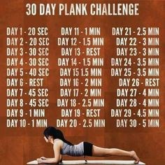 30 day plank challenge fitness workout exercise diy workout workout motivation exercise motivation exercise tips workout tutorial exercise tutorial diy workouts diy exercise diy exercises Sport Fitness, Fitness Diet, Health Fitness, Fitness Plan, Plank Fitness, Push Fitness, Fitness Friday, Energy Fitness, Group Fitness
