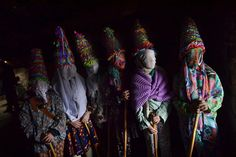 A group of participants called ''Txatxus'' take part in an ancient rural Carnival in the small Pyrenees village of Lantz, northern Spain, on February 11, 2018. The Carnival is a long-standing rural tradition in which the forces of good and evil confront each other in a symbolic battle. From Sunday to Tuesday, during Carnival week, in the little village of Lantz the legendarily evil bandit Miel Otxin, represented by a doll filled with straw, is imprisoned and sentenced to death by fire.