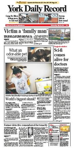 York Daily Record front page May 30