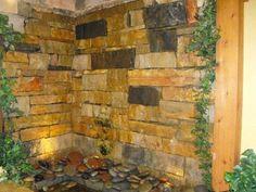 """Weeping Wall"" indoor water feature"