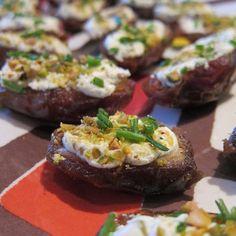 Killer Vegetarian App: Goat Cheese- and Pistachio-Stuffed Dates