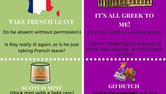 It's All Greek To You? Top English Idioms for Countries & Colours!