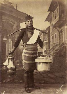 A Tea Seller, Istanbul, 1870s (Bir Osmanlı Seyyar Çaycı)